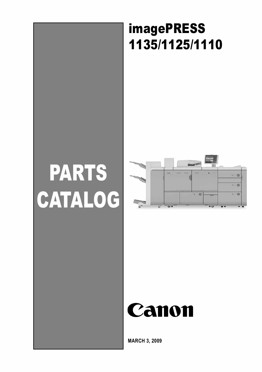 CANON imagePRESS 1110 1125 1135 Parts Manual PDF download-1